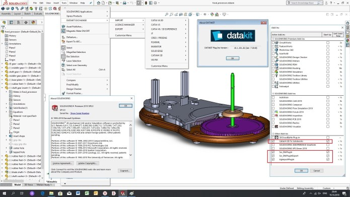 Working with DATAKIT 2019.1 Import-Export Plugins for SolidWorks 2010-2019 full