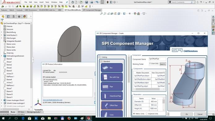Design with SPI SheetMetalWorks 2019.0 for SolidWorks 2019 full