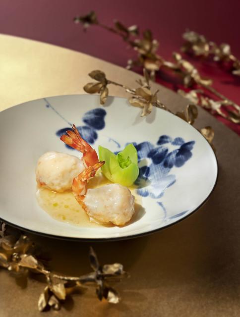 Lai Heen - CNY Promotion 2019 - Pan-seared Kuruma Shrimp with Shrimp Mousse