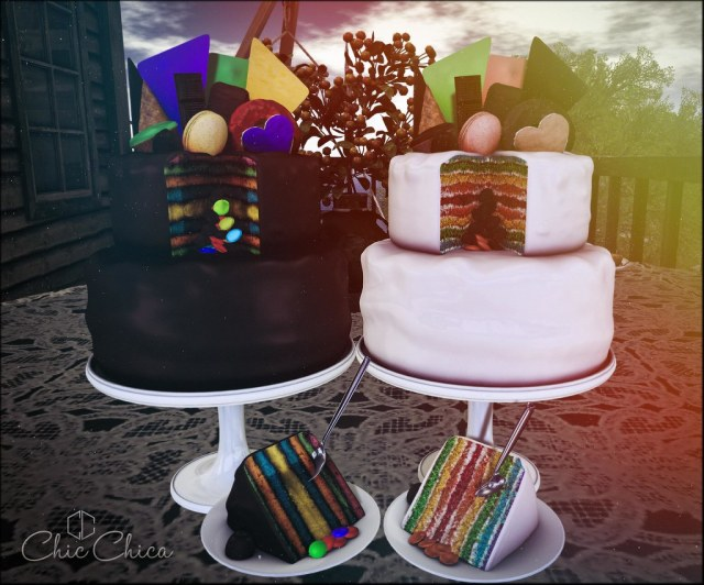 Rainbow cakes by ChicChica @ Bloom