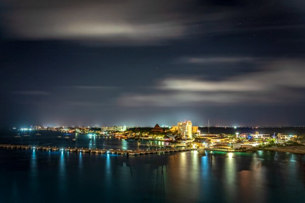 Cozumel at night