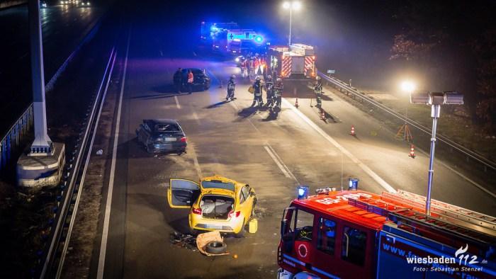 Verkehrsunfall A3 Mönchhof-Dreieck 16.02.19