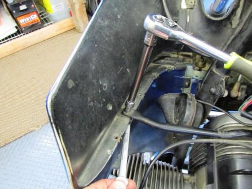 Removing Middle Fairing Bracket Bolt