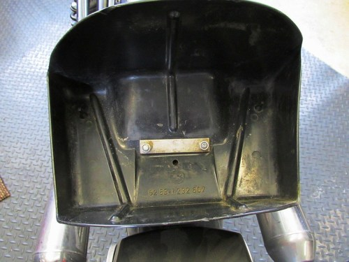 Rear Fender Mount is Inside Cowling Tool Box