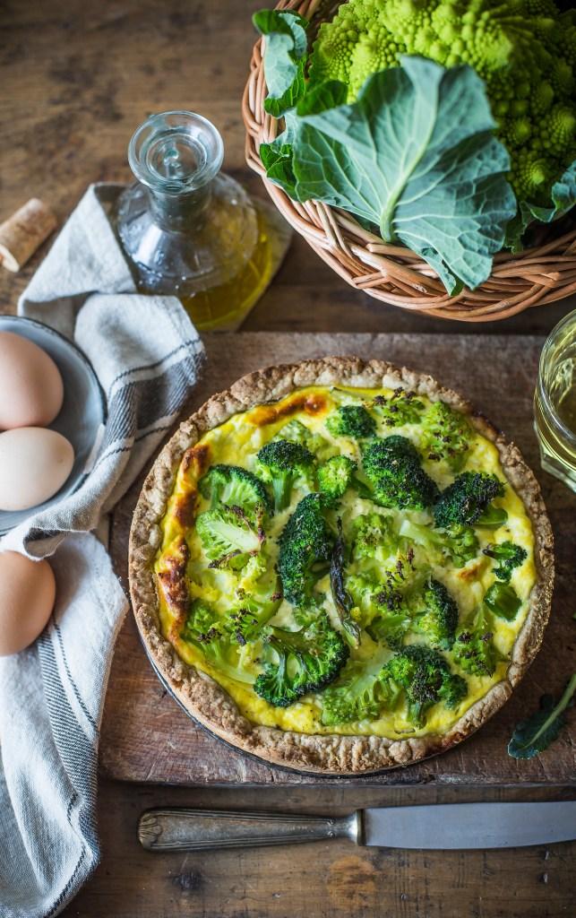 Torta rustica con broccoli e ricotta2