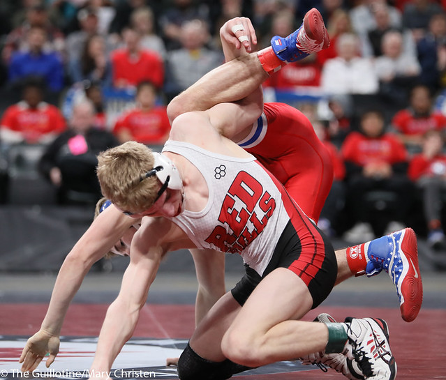 120AA 1st Place Match - Chase DeBlaere (Simley) 50-2 won by decision over Jaxson Rohman (Fairmont-Martin County West) 47-4 (Dec 7-5) - 190302BMC4220