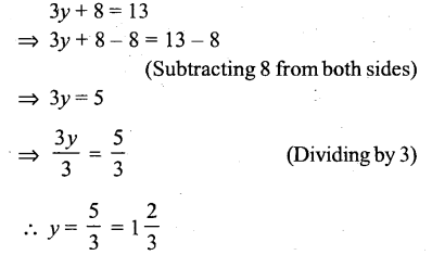 Selina Concise Mathematics Class 6 ICSE Solutions - Simple (Linear) Equations (Including Word Problems) - r5