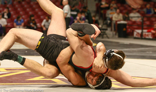 Cons. Round 1 - Brandon Krone (Minnesota) 9-14 won by major decision over Kyle Jasenski (Maryland) 10-17 (MD 13-2) - 1903amk0421