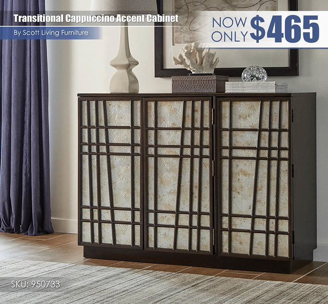 Transitional Cappuccino Accent Cabinet_Scott Living_950733