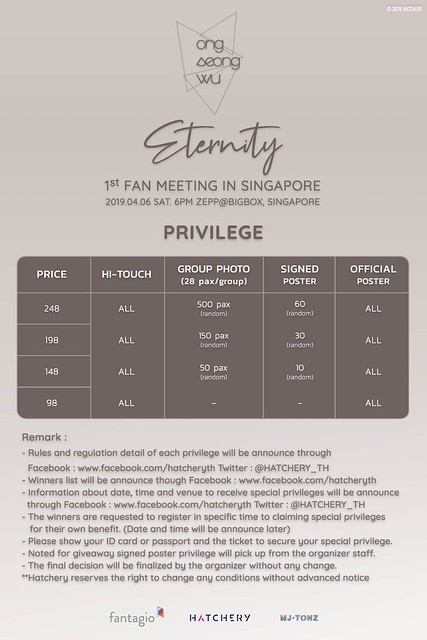 Ong Seong Wu Eternity in SG Privileges