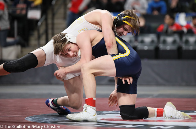 126AA 1st Place Match - Jake Svihel (Totino-Grace) 57-0 won by decision over Mitchel Petersen (Byron) 29-4 (Dec 7-3) - 190302BMC4319