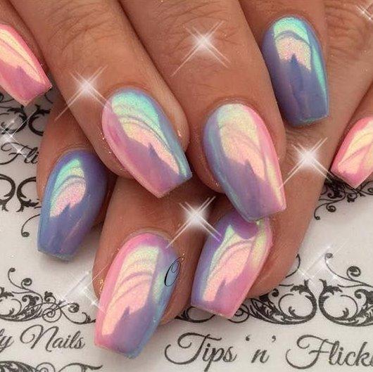 newest chrome nail art design