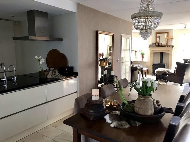 Witte keuken landelijk klassiek interieur