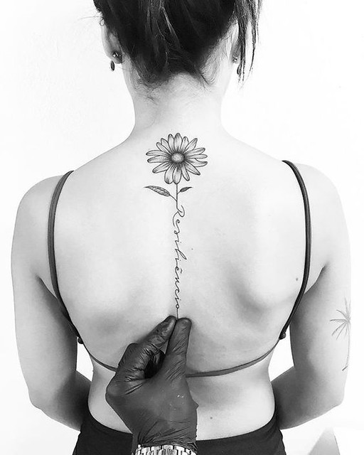 Tatuajes De Girasoles Con Mensajes Positivos Mini Tatuajes