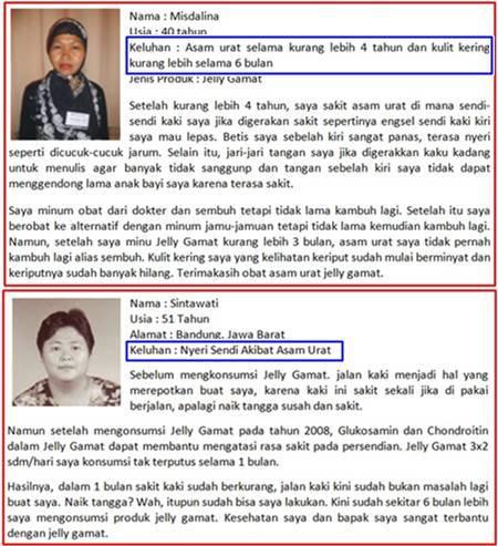 Testimoni QnC Jelly Gamat Atasi Asam Urat