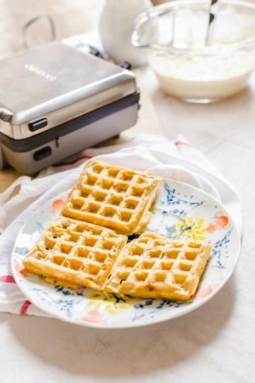 Overnight Yeast-Raised Waffles