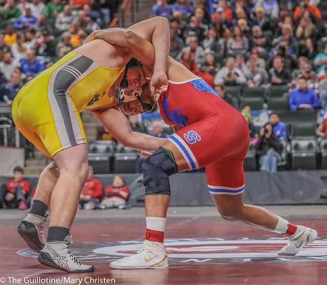 285AA 1st Place Match - Daniel Kerkvliet (Simley) 24-0 won by fall over Logan Wingert (Plainview-Elgin-Millville) 44-7 (Fall 0:59) - 190302BMC5191