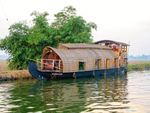 Dormir en un barco en Kerala