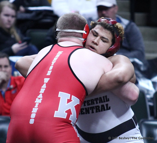 285A 3rd Place Match - Jesse Jackson (Kenyon-Wanamingo) 47-2 won by injury default over Cian Buehler (Ottertail Central Bulldogs) 33-11 (Inj. 3:00). 190302BJF0672
