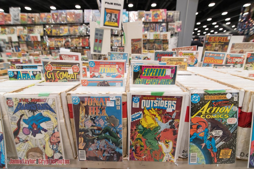 Comic books for sale at Fan Expo Vancouver at Vancouver Convention Centre on March 2nd 2019