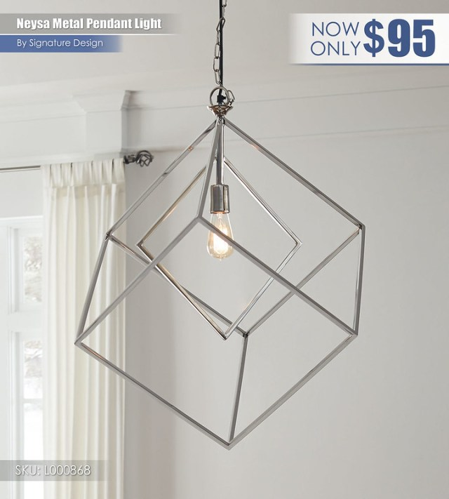 Neysa Metal Pendant Light_L000868