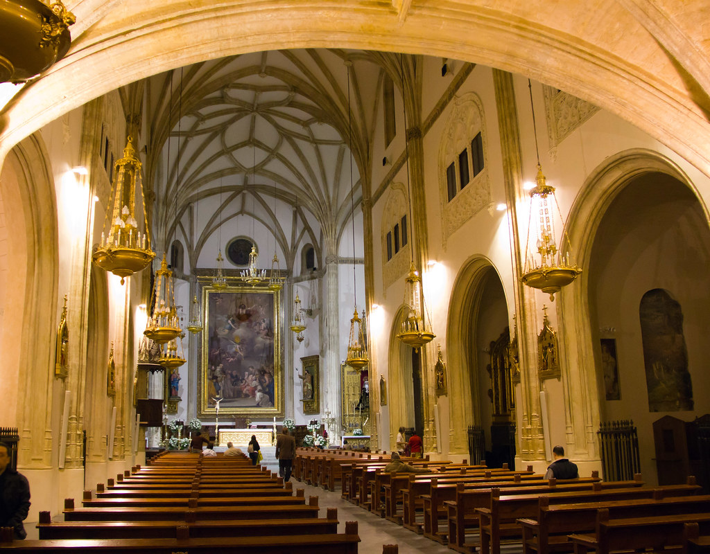 altar mayor interior Iglesia de San Jeronimo el Real Madrid 01