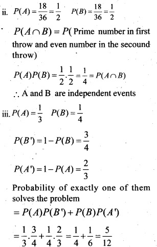 Plus Two Maths Chapter Wise Questions and Answers Chapter 13 Probability 41