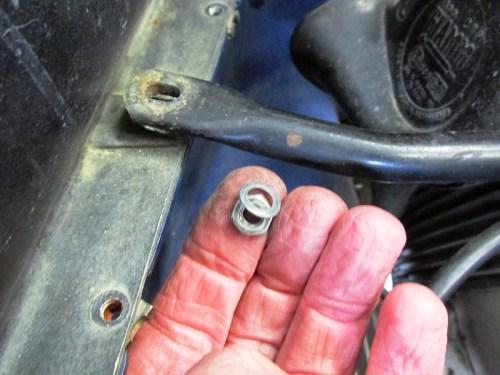Middle Fairing Bracket Nut Side Hardware