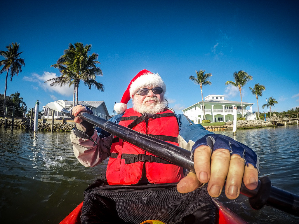 Santa Paddle on the Indian River-001