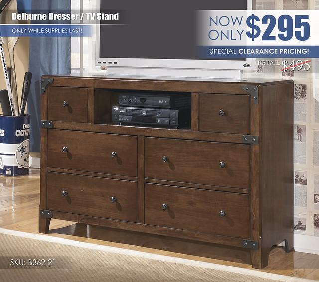Delburne Dresser TV Stand Clearance_B362-21-TV