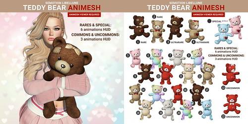 SEmotion x Libellune Teddy Bear Animesh