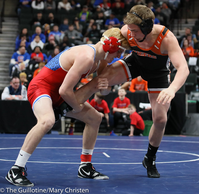 170 – Nolan Wanzek (Simley) over Elijah Sterner (Marshall) Dec 8-5. 190228BMC2252