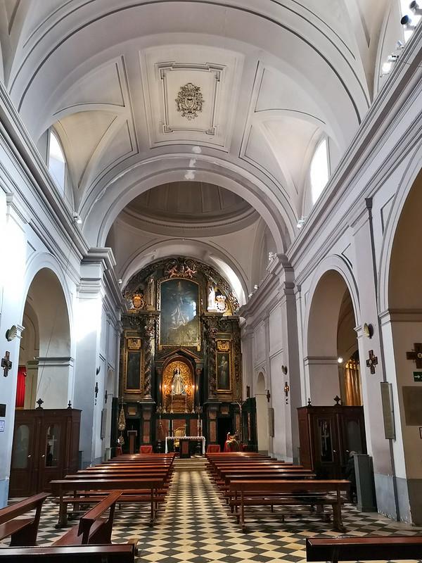 altar mayor interior Iglesia de San Pedro El Viejo Madrid