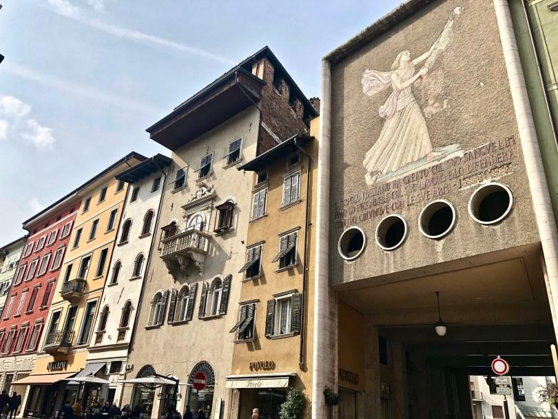 Itinerario di Trento - Mosaico di Mussolini