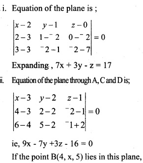 Plus Two Maths Chapter Wise Questions and Answers Chapter 11 Three Dimensional Geometry 30