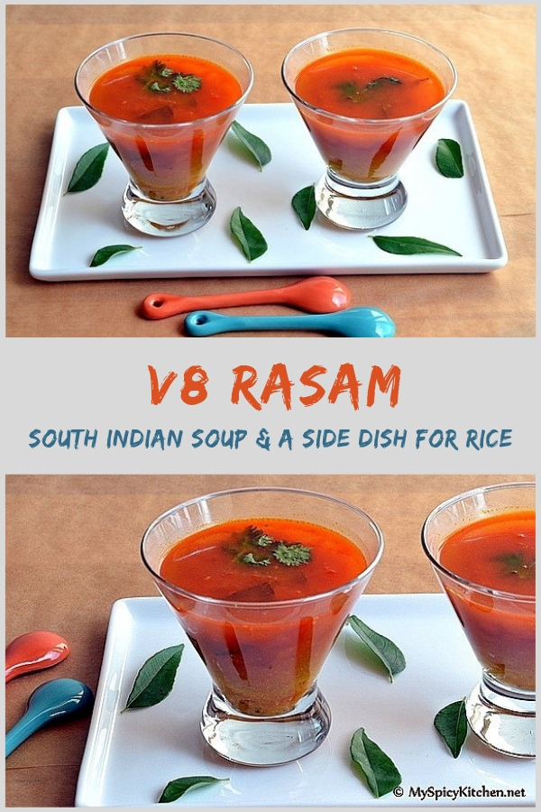 V8 rasam - spicy South Indian soup