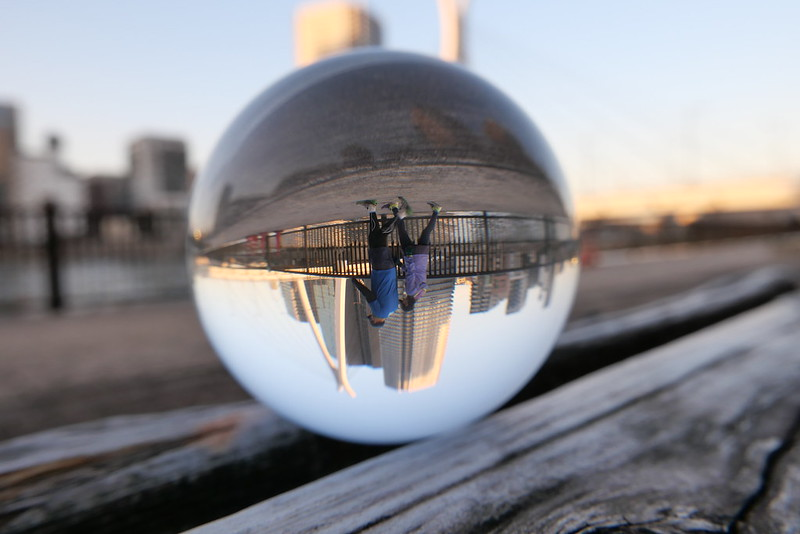 walking lensball