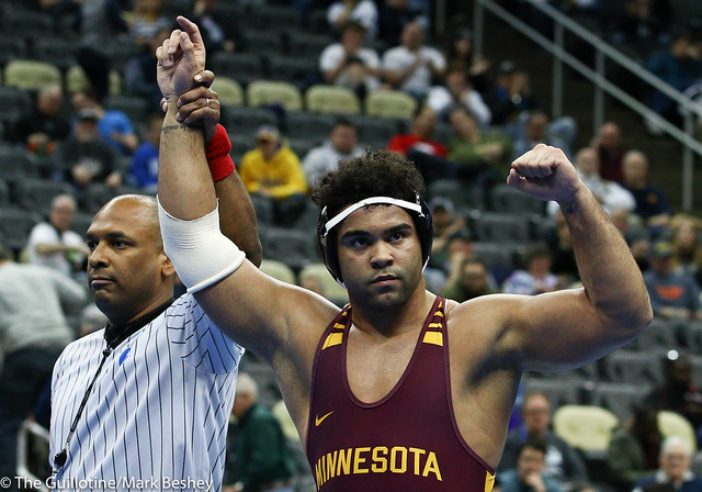 3rd Place Match - Gable Steveson (Minnesota) 35-2 won by decision over Jordan Wood (Lehigh) 25-5 (Dec 4-0) - 190323emk0131