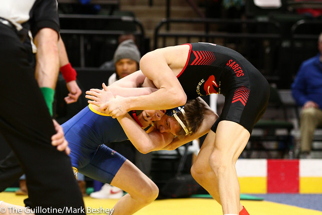 120 - Semifinal - Ben Lunn (Shakopee) 43-3 won by decision over Cael Swensen (Wayzata) 47-5 (Dec 1-0) - 190302amk0033