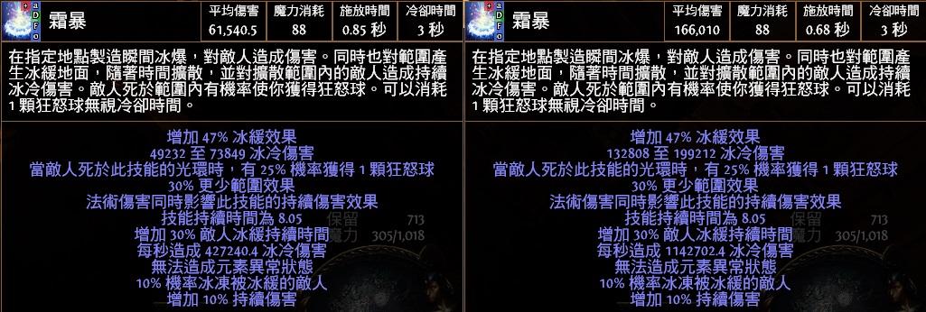 【POE】反叛標準(BSC)-96等秘術旋渦霜暴 - iammissu的創作 - 巴哈姆特