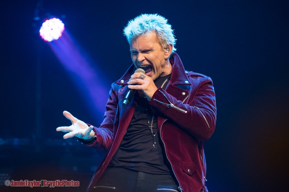 English musician Billy Idol performing at The Vogue Theatre in Vancouver, BC March 3rd, 2019