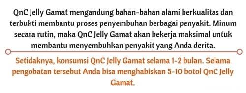 Rekomendasi pengobatan dengan QnC Jelly Gamat