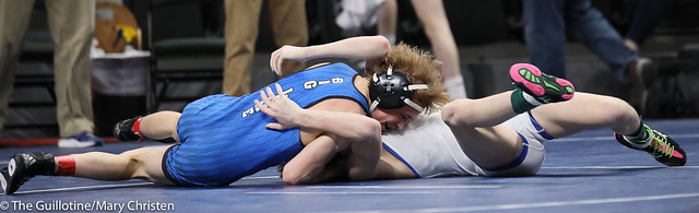 106AA Semifinal - Mason Gehloff (Waseca) 31-0 won in tie breaker - 1 over Christian Noble (Big Lake) 44-2 (TB-1 5-4). 190302AMC3128