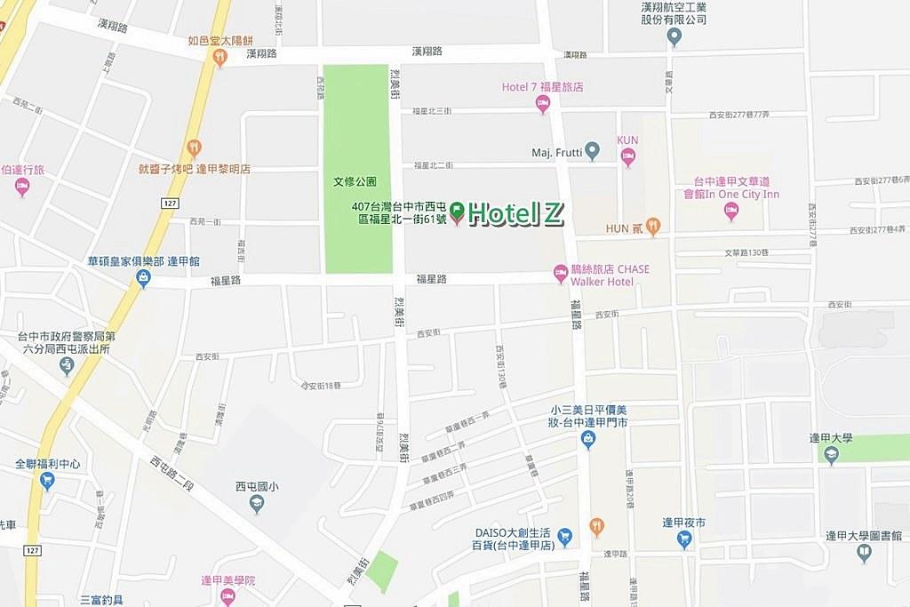 Hotel Z Map