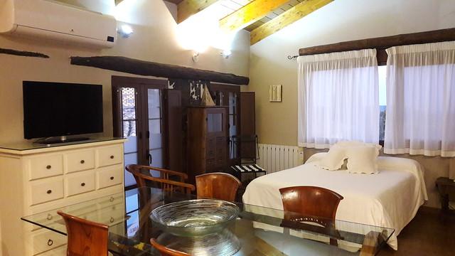 Vista de uno de los apartamentos Vino Tinto, tiene hasta 3 habitaciones, cocina equipada y alguno de los baños de los apartamentos con hidromasaje.