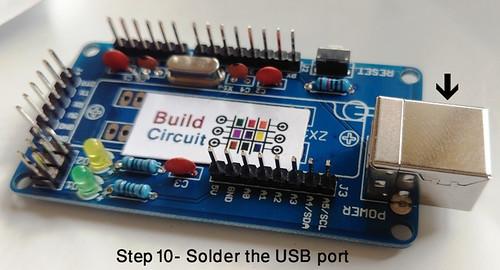 Step 10- Solder the USB port