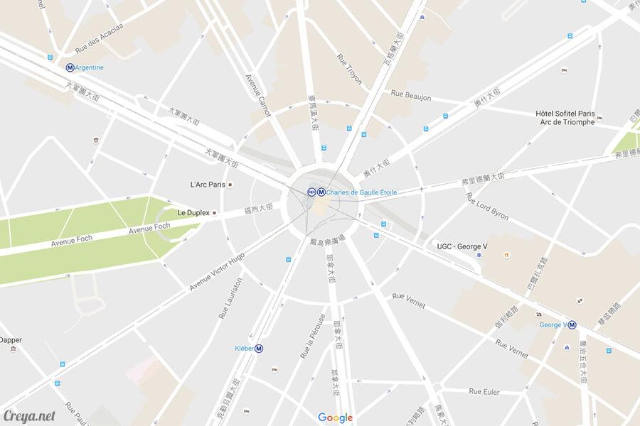 2016.8.28 | 看我的歐行腿| 法國巴黎凱旋門、香榭麗舍間的歷史之道 19
