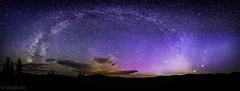 Full Milkyway arc over aspen colorado landing ...