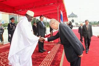 1010626馬英九總統主持「甘比亞共和國總統賈梅(H.E. Sheikh Professo...