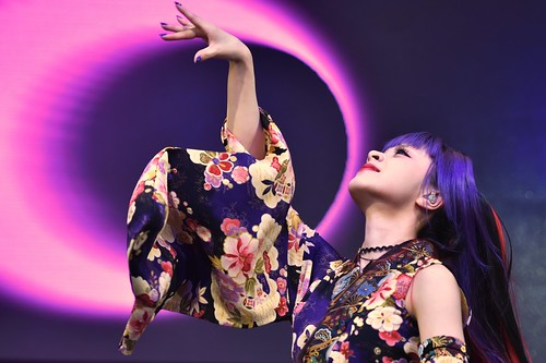 Garnidelia, a Japanese music group, performing on stage at J-Pop Summit 2016 in San Francisco, California, July 23, 2016